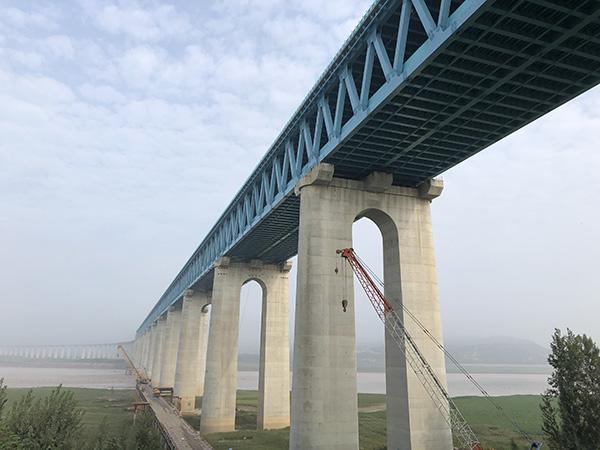 浩吉铁路走访|三门峡黄河公铁两用大桥的技术创新