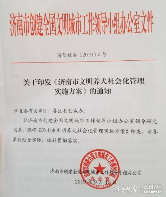 济南市正式发布文明养犬实施方案,每个小区至少抽检十只狗