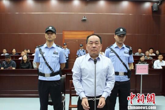 张春雷受审。 安徽纪检监察网 图