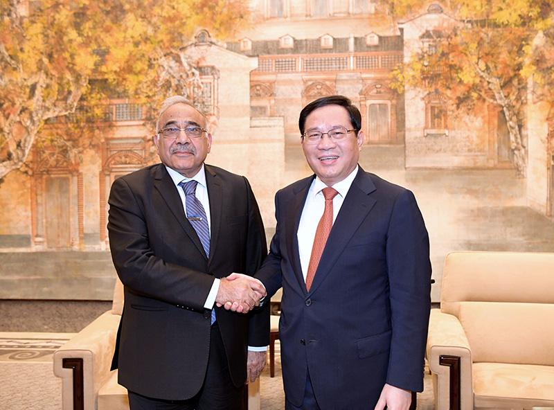 """李强会见伊拉克总理:在""""一带一路""""框架下推动双方务实合作"""