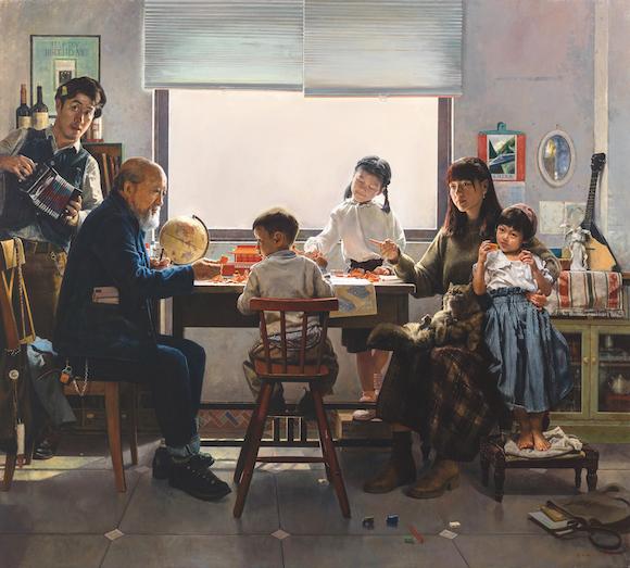 十三届全国美展油画展区作品:谢郴安 -广东《和煦时光》