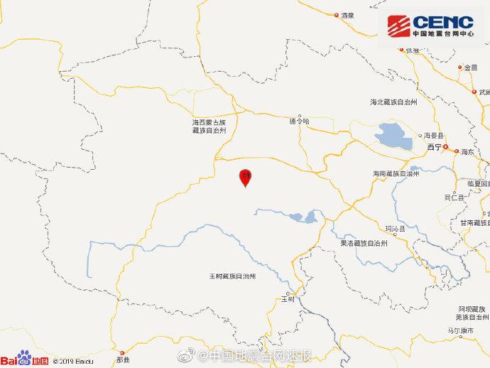 青海海西州都兰县发生3.1级地震,震源深度7千米