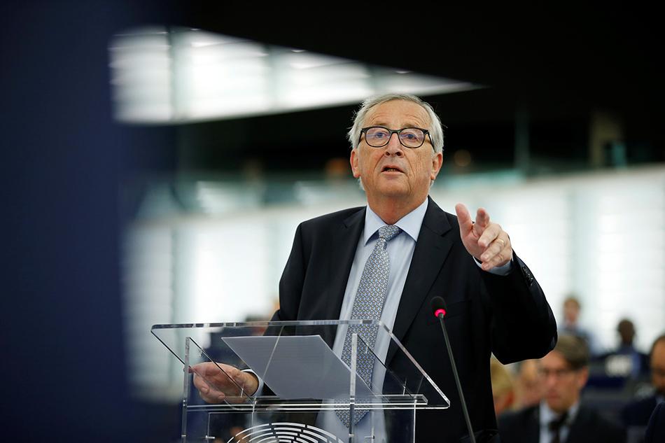 """欧盟委员会主席容克:后悔当年""""放手""""让英国""""脱欧"""""""