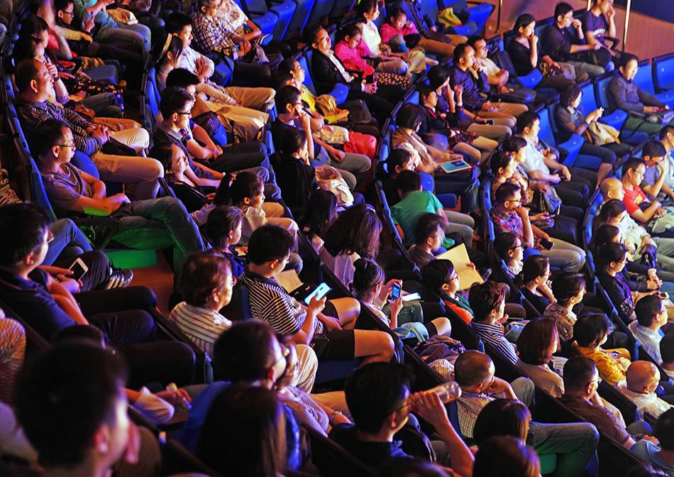 现场观众。