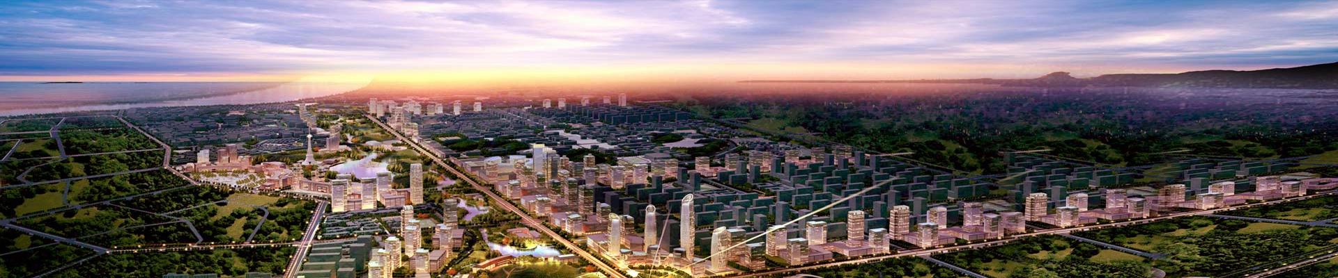 上海漕河泾新兴技术开发区海宁分区效果图。