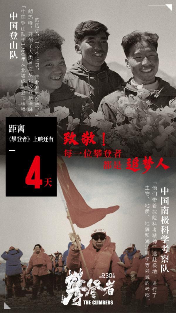 吴京张译章子怡等出演《攀登者》,致敬60年前珠峰攀登者