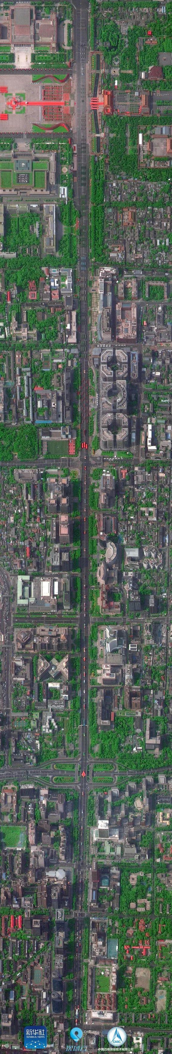 电源-多颗国产卫星俯瞰阅兵,发回长安街全画幅卫星