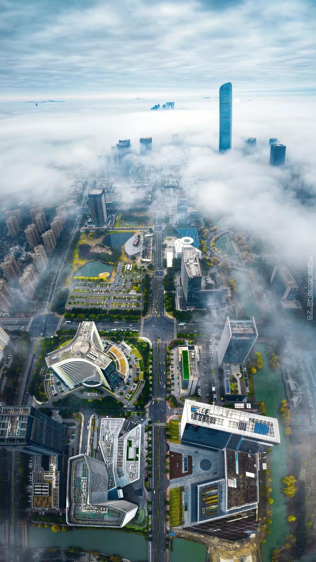 苏州工业园区俯瞰。苏州工业园区发布微信公号 图