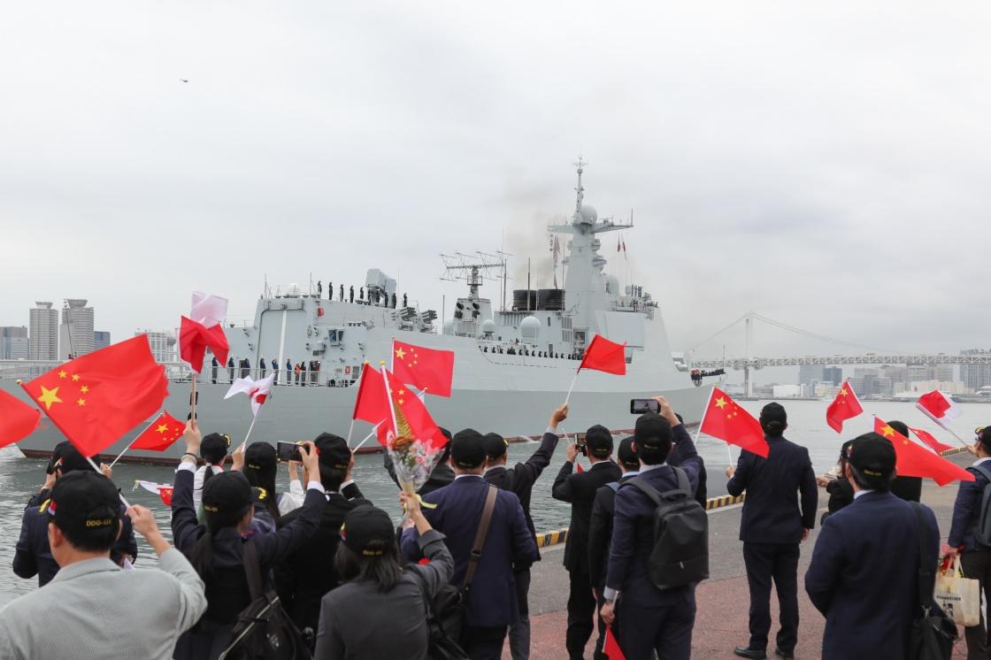 靖海略洋|太原舰与海自驱逐舰联合训练,中日防务关系升温