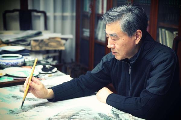 曾随谢稚柳一件件看古画,七旬劳继雄回顾书画生涯