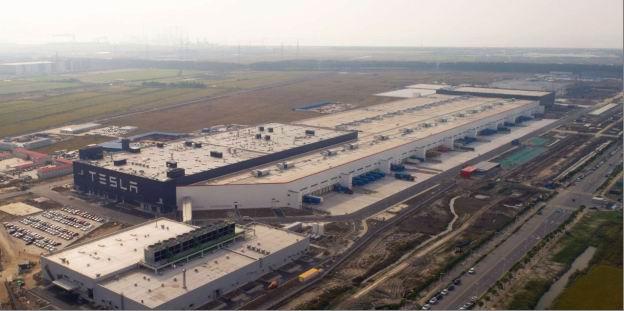 特斯拉上海超级工厂。