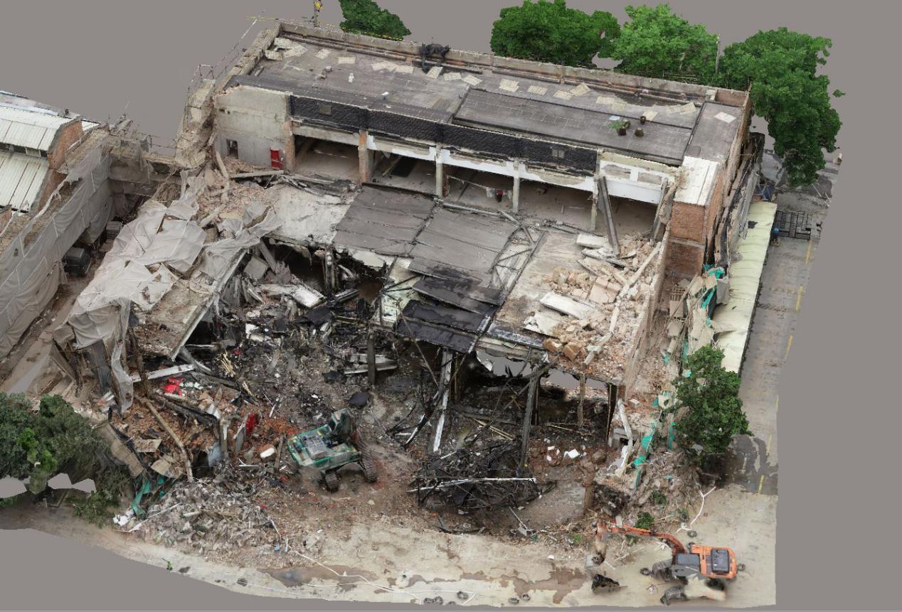 图7①幢厂房坍塌区域示意图
