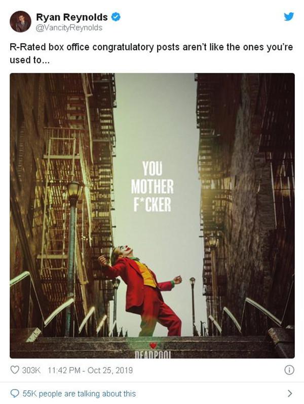 北美票房|《小丑》超《死侍》成全球最卖座限制电影