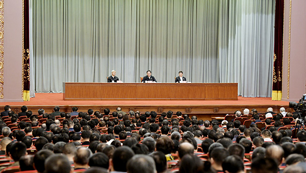 中央宣讲团报告会在沪举行,李强作学习贯彻四中全会精神宣讲