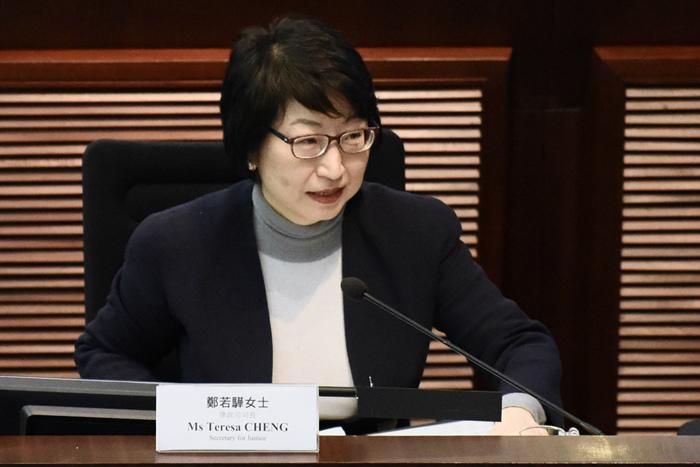 香港特区政府律政司司长郑若骅