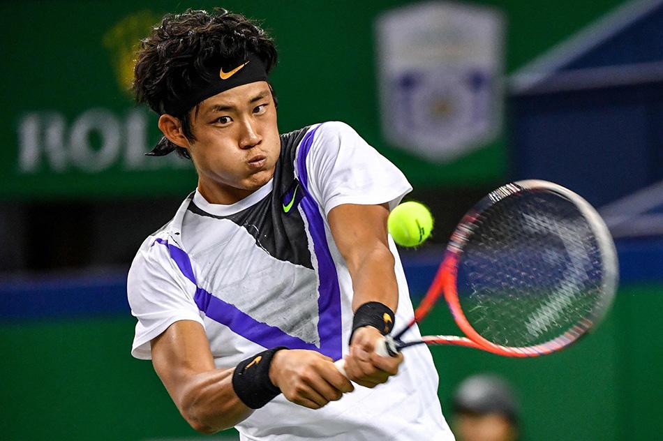 2019上海网球大师上的中国选手张之臻。 本文图片 视觉中国