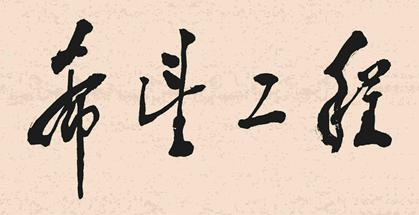 """1990年9月5日,邓小平为""""希望工程""""题名。"""