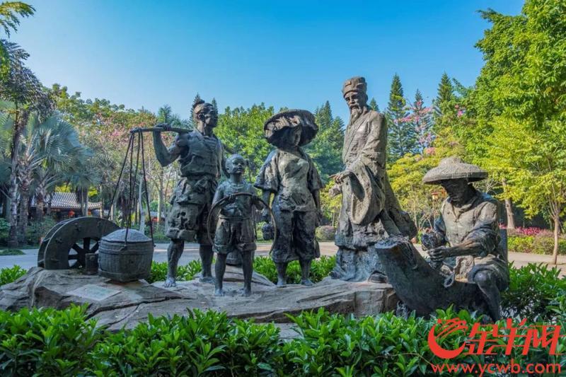 《东坡劝农图》雕像 图/陈骁鹏 王锭铨