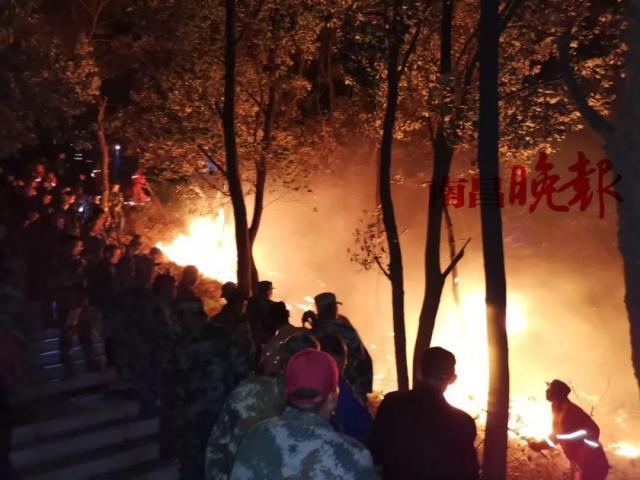 南昌梅岭突发森林大火:火势已扑灭,未造成人员伤亡