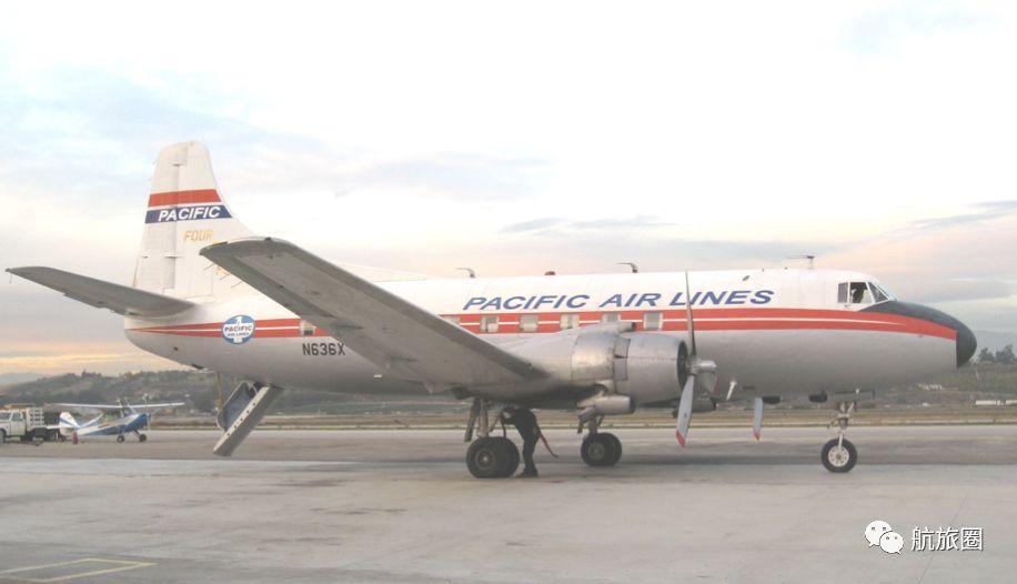 太平洋航空的马丁404,位于加州卡玛里奥