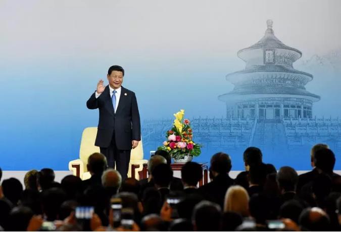 中国国家主席习近平在北京出席2014年亚太经合组织(APEC)工商领导人峰会开幕式并发表主旨演讲。