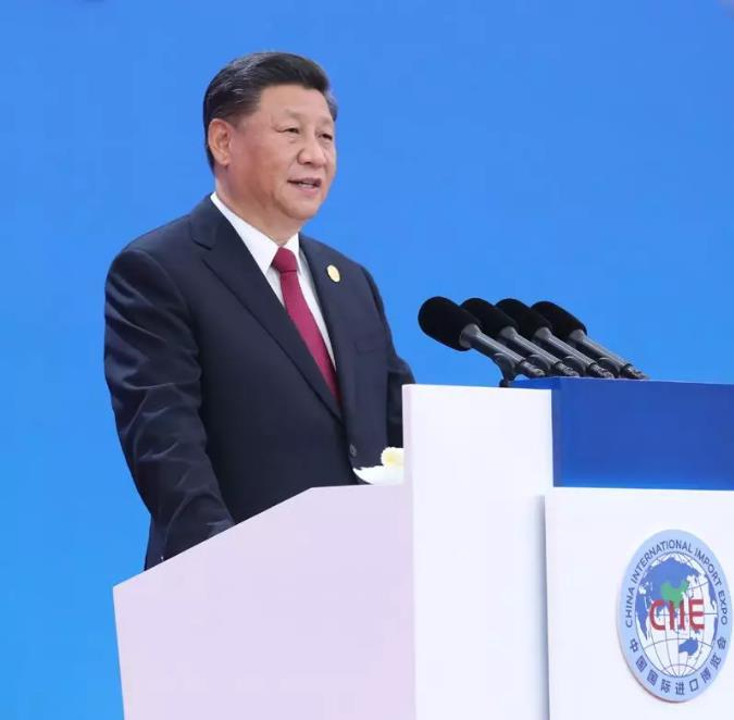 11月5日,第二届中国国际进口博览会在上海国家会展中心开幕。国家主席习近平出席开幕式并发表题为《开放合作 命运与共》的主旨演讲。