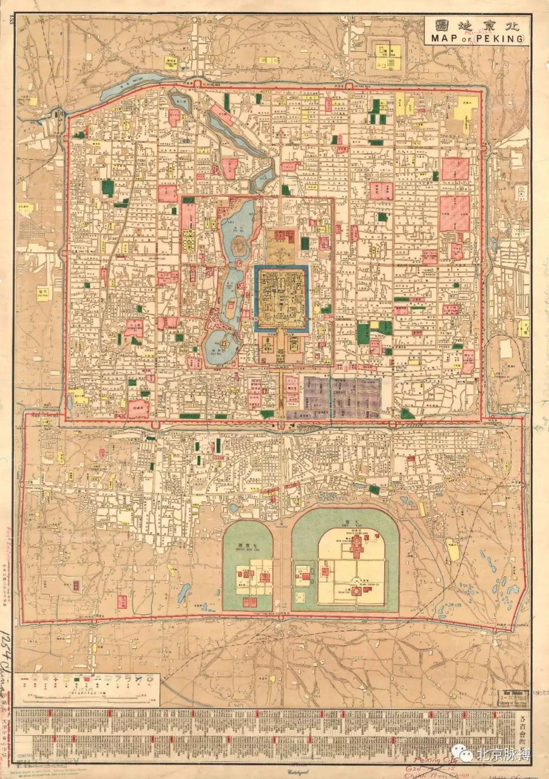 中东地图_69幅老地图,看尽北京城市历史变迁_湃客_澎湃新闻-The Paper