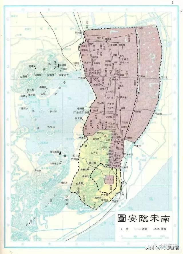 ▲南宋都城临安城平面图