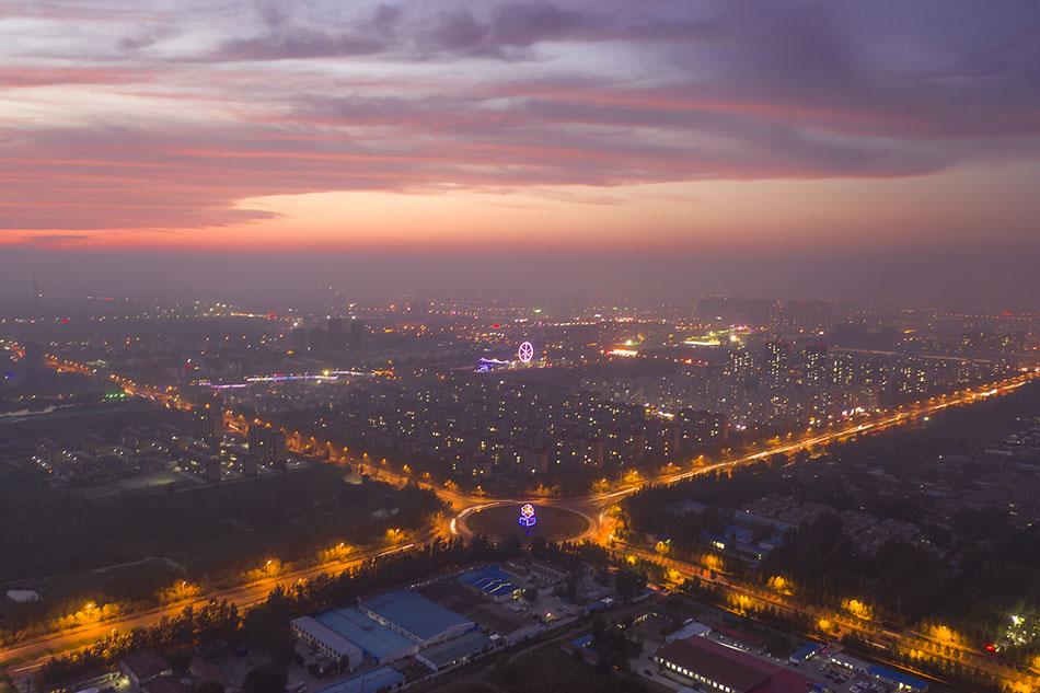 山东滨州俯瞰。 视觉中国 资料图