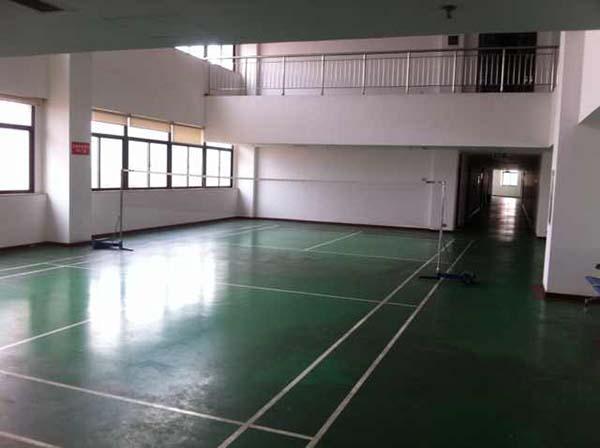 南昌市检察院办公楼里的小型羽毛球场