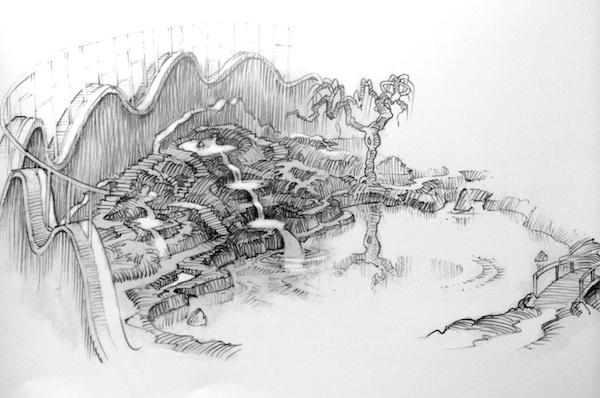 西亚园林景观手绘