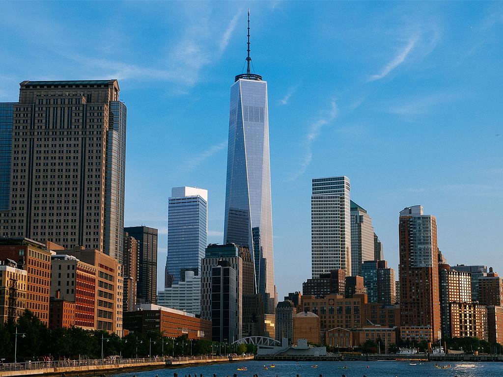 世贸中心双子塔在