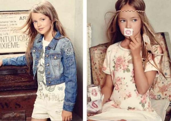 俄罗斯9岁模特有250万粉丝,