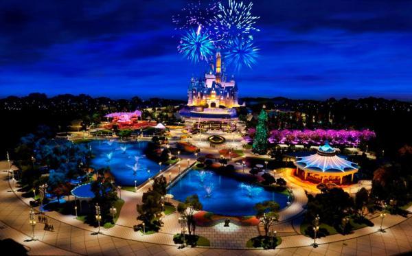 以迪士尼项目为核心的上海国际旅游度假区的效果图