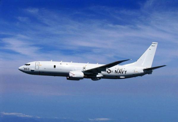 美国派p-8a海神侦察机从菲律宾飞往南海巡逻
