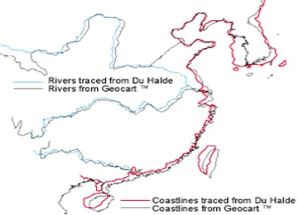 明清时期的中国地图风格像不像山水画