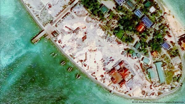 卫星图片:越南在中国南海两争议岛屿填海造地8