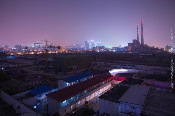 城市近景夜景素材