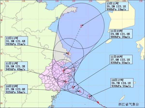 台风北上将影响黄海海面以及朝鲜