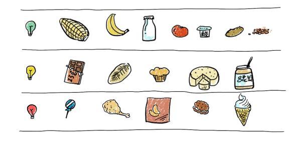 无糖食品矢量图