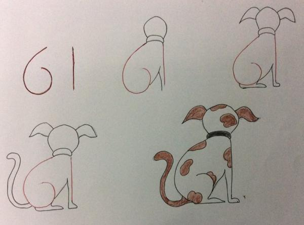 用数字画出可爱的小动物
