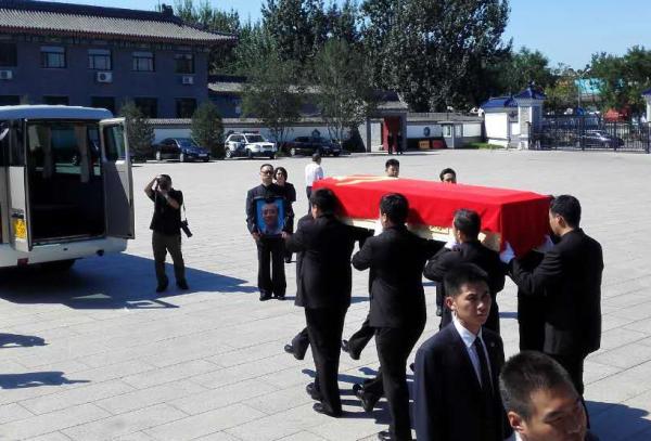 汪东兴同志遗体在北京八宝山革命公墓火化。 CFP 图