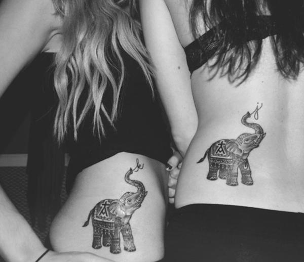 闺蜜纹身图案大全图片