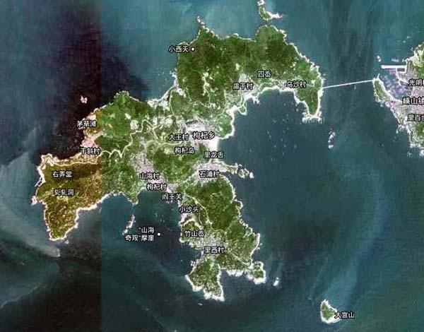浙江省嵊泗列岛中的枸杞岛以风景秀丽吸引了不少游客.