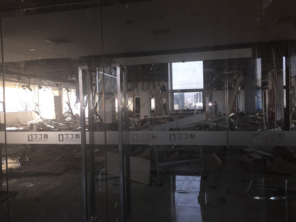 丁丁网上海总部一片狼藉,前员工称公司筹谋不善数百人离职