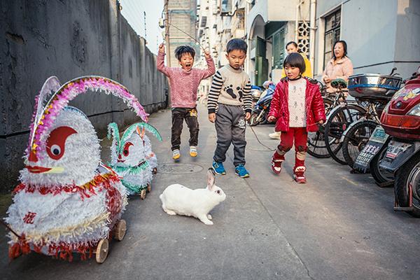 老上海街道手绘图