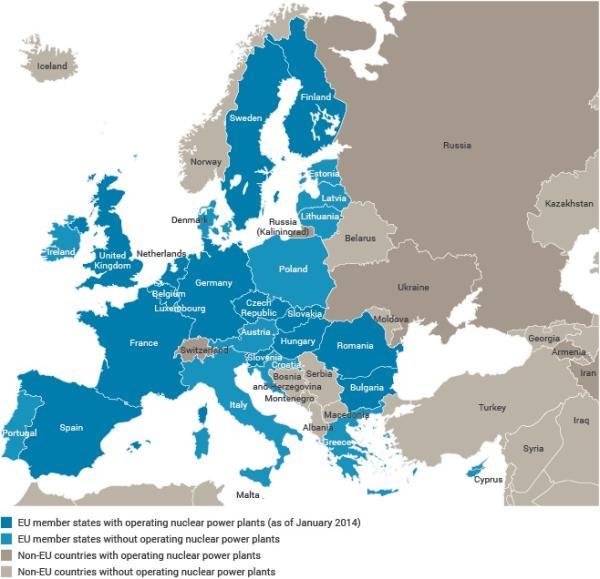 减少碳排放的考虑,欧委会在该报告中强调了核能之于欧洲大陆的重要性