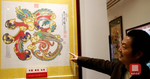 文昌祖庭年画及传承人王贞龙绵阳日报社融媒体记者 张登军 摄