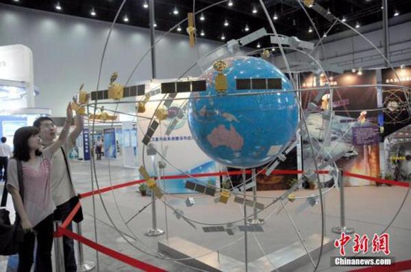 北斗卫星导航系统组网模型示意图 中新网 资料图