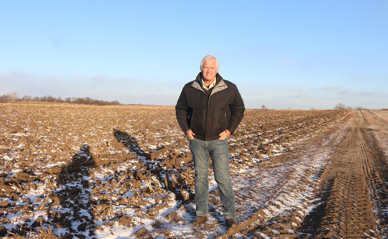 艾奥瓦州大豆农场主瑞克·金伯利 .